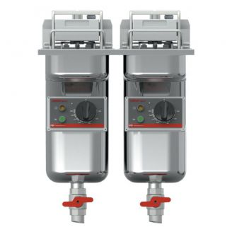 FriFri SuperEasy 422 twin tank drop-in friteuse [2x7,5-9 ltr/2x7,5kW]