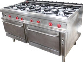 Alpeninox 8-pits fornuis met ovens (OCCASION)