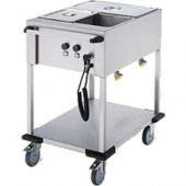 Mobile Containing bain-marie wagen, 2 x 1/1 GN