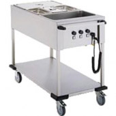 Mobile Containing bain-marie wagen, 3 x 1/1 GN