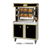 Rotisserie Mini seduction, RVS / zwart of rood, 2 spitten, ITNR2